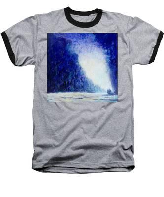 Blue Landscape - Abstract Baseball T-Shirt
