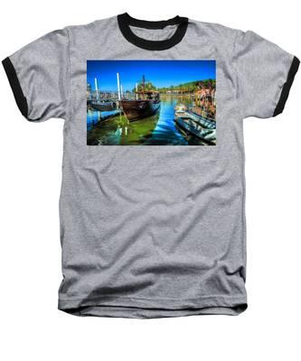 Boats At Kibbutz On Sea Galilee Baseball T-Shirt