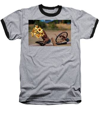 Boot With Flowers Baseball T-Shirt