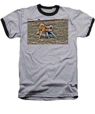 Bull Dogging Baseball T-Shirt