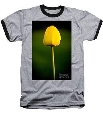 Closed Yellow Flower Baseball T-Shirt