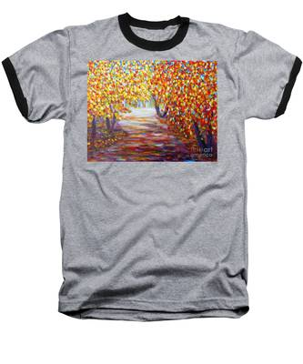 Colorful Autumn Baseball T-Shirt