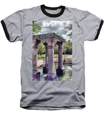 Columns In The Water Baseball T-Shirt