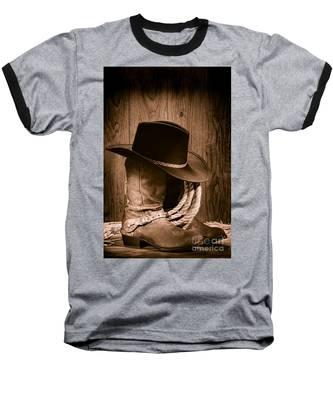 Cowboy Hat And Boots Baseball T-Shirt