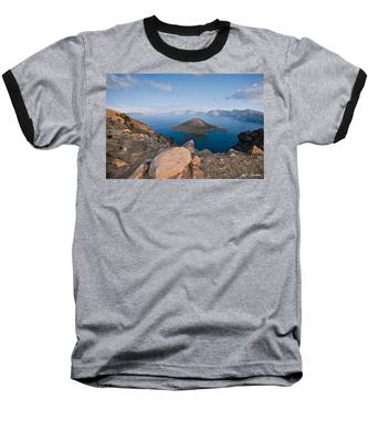 Crater Lake In The Evening Baseball T-Shirt