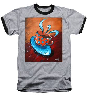 Crazy Coffee Baseball T-Shirt