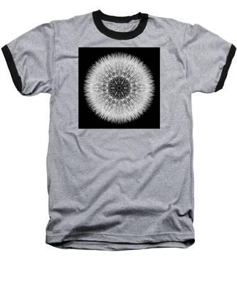 Dandelion Head Flower Mandala Baseball T-Shirt