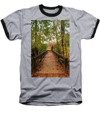 Decorate With Leaves - Holmdel Park Baseball T-Shirt