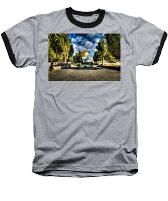 Dome Of The Rock Hdr Baseball T-Shirt