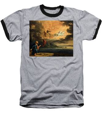 Elijah Taken Up Into Heaven In The Chariot Of Fire Baseball T-Shirt