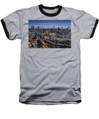 Evening City Lights Baseball T-Shirt