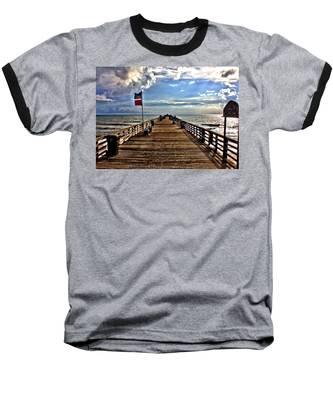 Flagler Pier Baseball T-Shirt