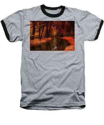 Flowing Through The Colors Of Fall Baseball T-Shirt