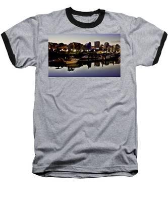 Foss Waterway At Night Baseball T-Shirt