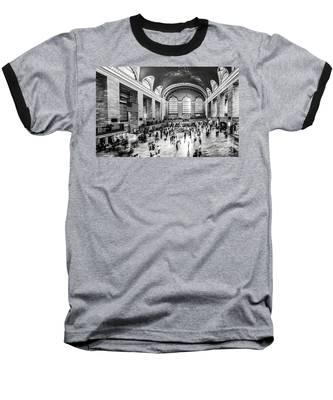Grand Central Station -pano Bw Baseball T-Shirt