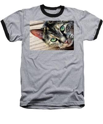 Baseball T-Shirt featuring the photograph Green Pepper by Andrea Platt