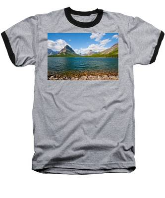 Grinnell Point From Swiftcurrent Lake Baseball T-Shirt