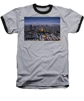 Here Comes The Fog  Baseball T-Shirt
