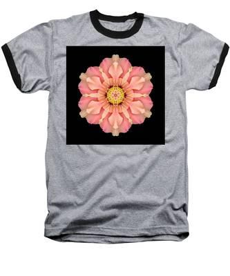 Hibiscus Rosa-sinensis I Flower Mandala Baseball T-Shirt