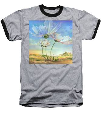 In The Half-shadow Of Wild Flowers Baseball T-Shirt