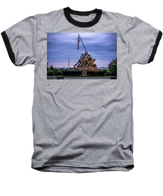 Iwo Jima Monument Baseball T-Shirt