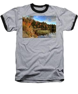 Jamies Pond 2 Baseball T-Shirt by Andrea Platt