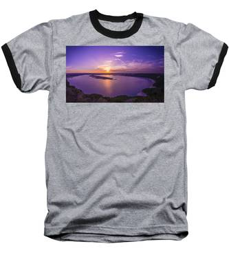 Lake Travis Sunset Baseball T-Shirt