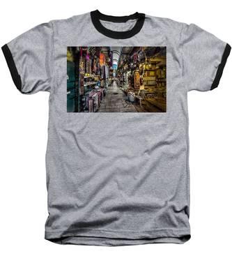 Market In The Old City Of Jerusalem Baseball T-Shirt