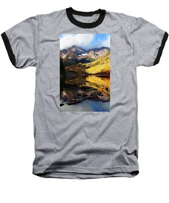 Maroon Bells Autumn Baseball T-Shirt
