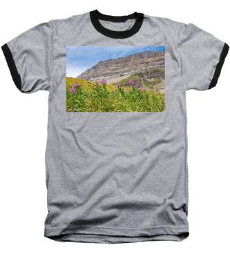 Meadow Of Fireweed Below The Continental Divide Baseball T-Shirt