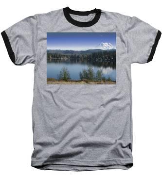 Mount Rainier In The Fall Baseball T-Shirt
