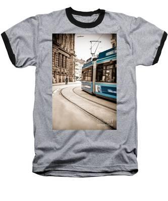 Munich City Traffic Baseball T-Shirt