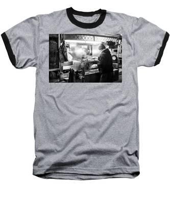 New York City Street Vendor Baseball T-Shirt