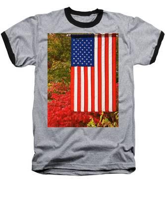 Old Glory Baseball T-Shirt