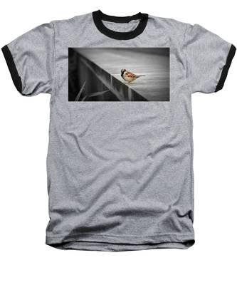 Baseball T-Shirt featuring the photograph On The Edge by Andrea Platt