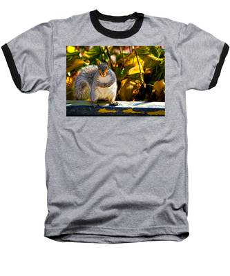 One Gray Squirrel Baseball T-Shirt