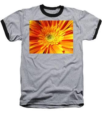 Orange Gerbera Baseball T-Shirt