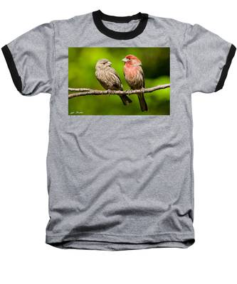 Pair Of House Finches In A Tree Baseball T-Shirt