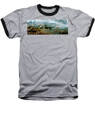 Panorama With The Abduction Of Helen Amidst The Wonders Of The Ancient World Baseball T-Shirt