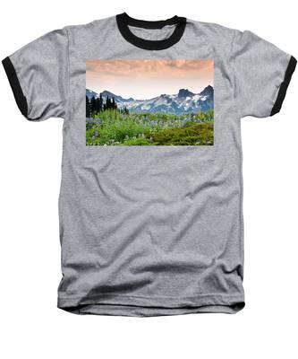 Paradise Meadows And The Tatoosh Range Baseball T-Shirt