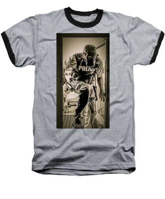Patriot3 Second Floor Entry Baseball T-Shirt