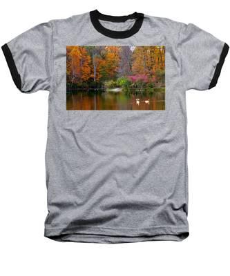 Baseball T-Shirt featuring the photograph Peaceful Lake by Andrea Platt