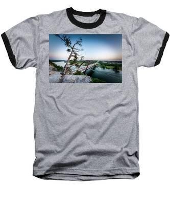 Pennybacker Bridge Austin Baseball T-Shirt