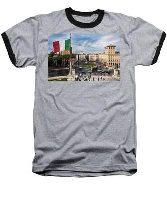 Piazza Venezia Baseball T-Shirt