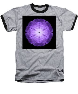 Purple Petunia I Flower Mandala Baseball T-Shirt