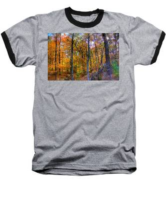 Baseball T-Shirt featuring the photograph Rainbow Woods by Andrea Platt