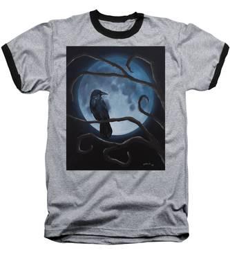 Raven Moon Baseball T-Shirt