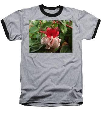 Red And White Fuschia Baseball T-Shirt