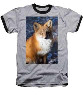 Red Fox Standing Baseball T-Shirt