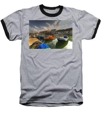 resting boats at the Jaffa port Baseball T-Shirt